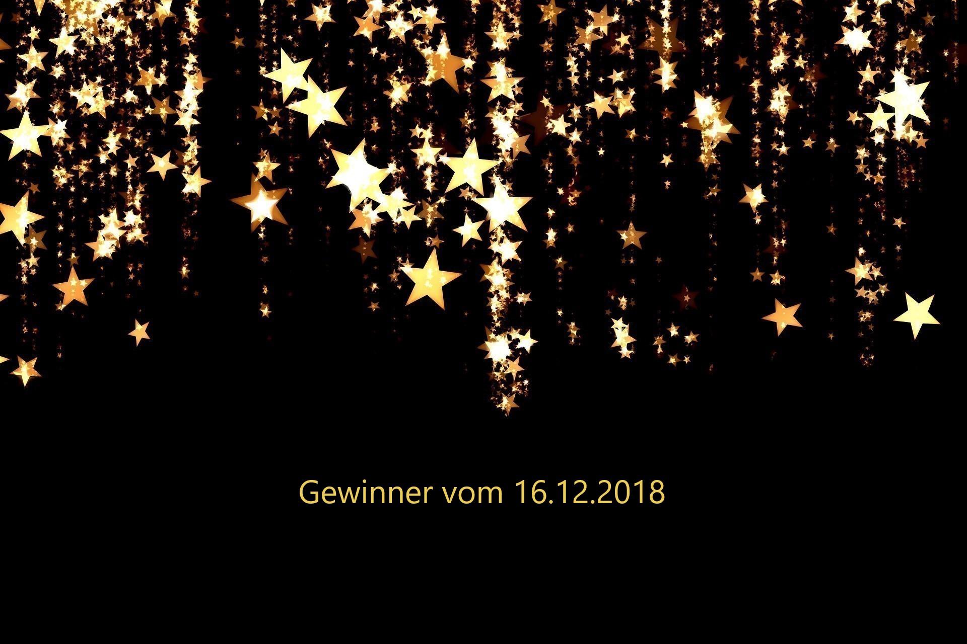 Gewinner vom 16.12.2018